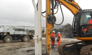 Piling rig application stone columns